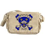 Ashby Family Crest Skull Messenger Bag