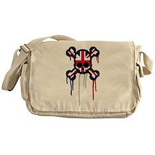British Punk Skull Messenger Bag