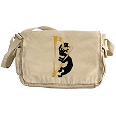 Kokopelli Harp Messenger Bag