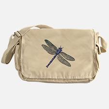 Blue Dragonfly Messenger Bag