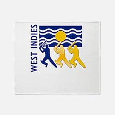 West Indies Cricket Throw Blanket