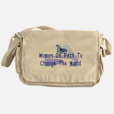 Woman On Path Messenger Bag