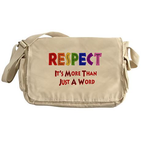 Rainbow Respect Saying Messenger Bag