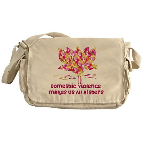 Domestic Violence Sisters Messenger Bag