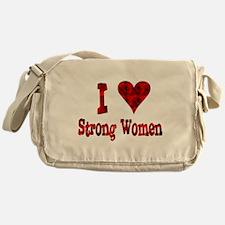 I Heart Strong Women Messenger Bag