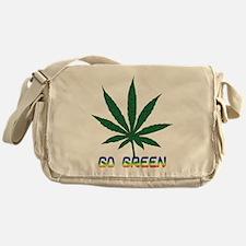 Go Marijuana Green Messenger Bag