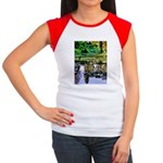 MONET'S LILY POND Women's Cap Sleeve T-Shirt