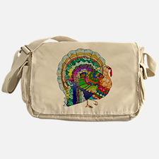Patchwork Thanksgiving Turkey Messenger Bag