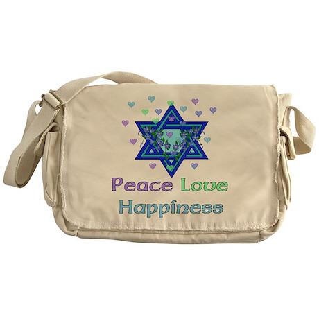 Peace Love Happiness Messenger Bag