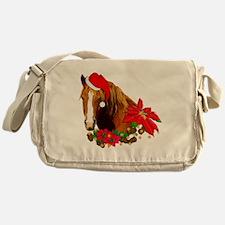 Christmas Horse Messenger Bag