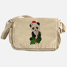 Christmas Panda Messenger Bag