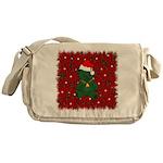 Christmas Bear Messenger Bag