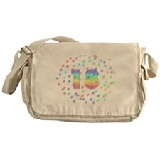 18th Birthday Pastel Stars Messenger Bag