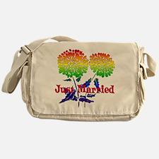 Rainbow Flower Marriage Messenger Bag