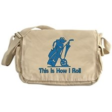 Golfing Dad Messenger Bag