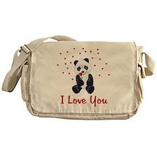 Panda Bear Valentine Messenger Bag