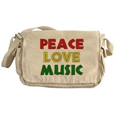 Peace Love Music Messenger Bag