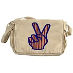 Patriotic Peace Sign Messenger Bag