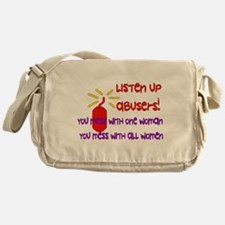 Message To Abusers Messenger Bag