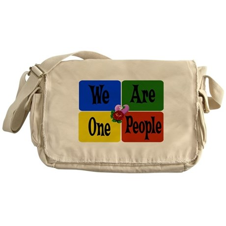 One World, One People Messenger Bag