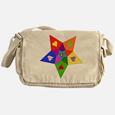 Rainbow Hearts Star Messenger Bag
