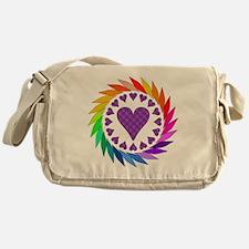 Rainbow Love Hearts Messenger Bag
