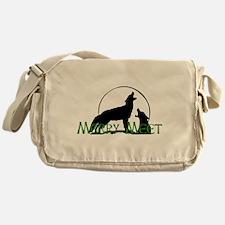Merry Meet Spirit Wolf Messenger Bag