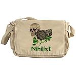Nihilist Skull Messenger Bag