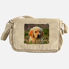 Austin, Retriever Puppy Messenger Bag
