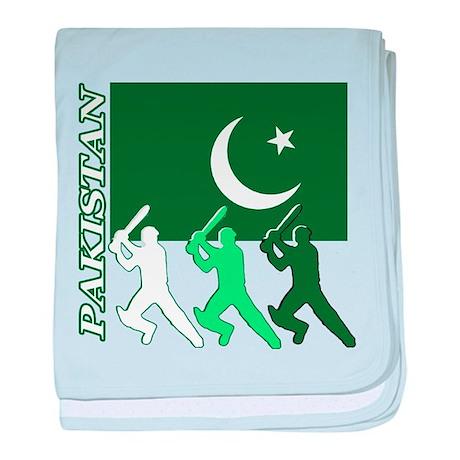 Cricket Pakistan baby blanket