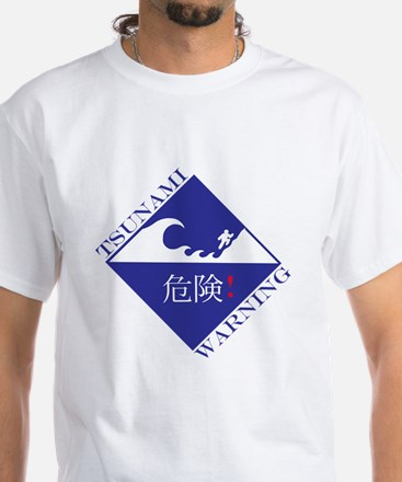 tsunami warning White T-Shirt