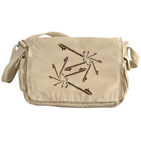 Bass Clarinet Spirals Messenger Bag