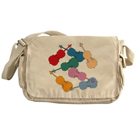Colorful Cellos - Messenger Bag