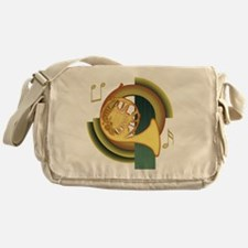 French Horn Deco Messenger Bag