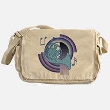 French Horn Deco2 Messenger Bag