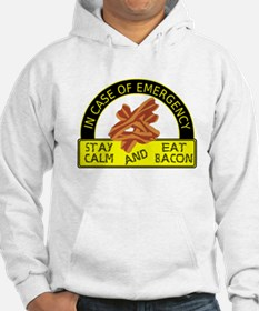 Stay Calm, Eat Bacon Hoodie