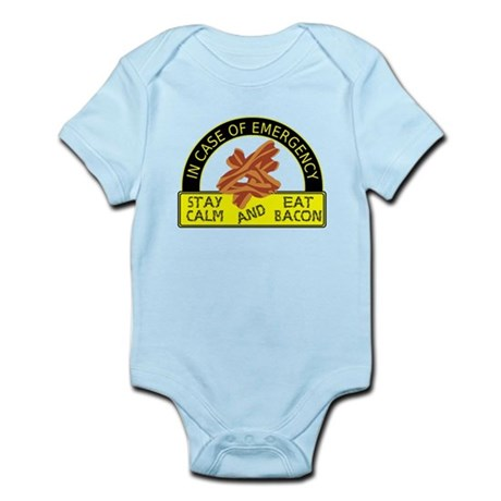 Stay Calm, Eat Bacon Infant Bodysuit