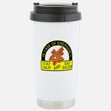 Stay Calm, Eat Bacon Stainless Steel Travel Mug
