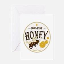 honey label Greeting Card