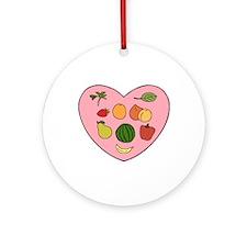Loving Raw Vegan Ornament (Round)
