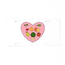 Loving Raw Vegan Aluminum License Plate