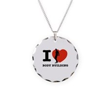 I love Body building Necklace