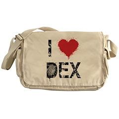 I [heart] Dex Messenger Bag