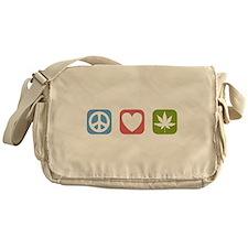 Peace Love Cannabis Messenger Bag