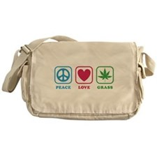 Peace Love Grass Messenger Bag
