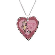 Horsey Girl Necklace Heart Charm