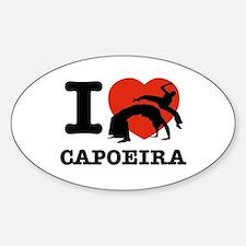 I love Gapoeira Sticker (Oval)