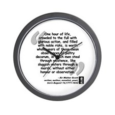 Scott Action Quote Wall Clock
