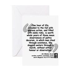 Scott Action Quote Greeting Card