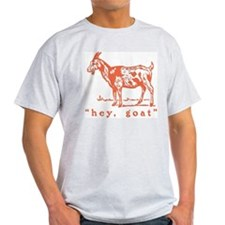 Hey, Goat Ash Grey T-Shirt